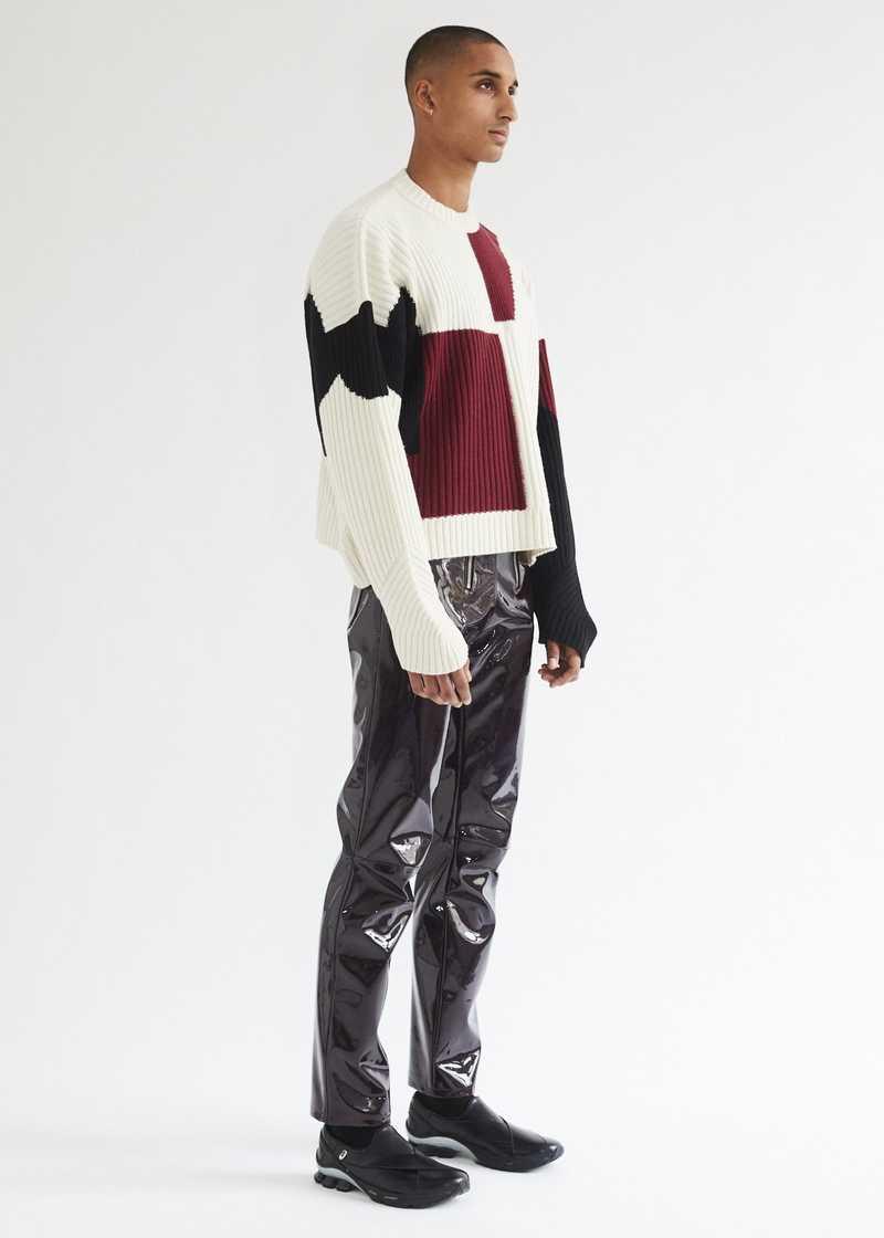 Mies Jumper Off-white full length