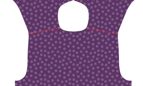 Edge-stitch the shoulder seams of the yoke