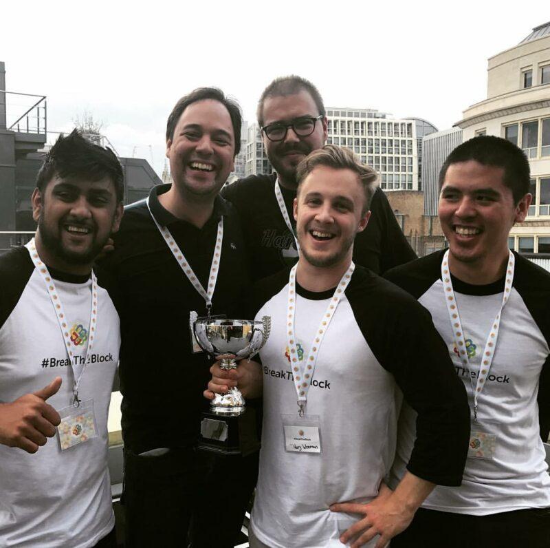 This Place team win Insurance Blockchain Hackathon #breaktheblock in London
