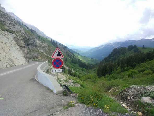 View from Col de La Colombière towards La Cluses