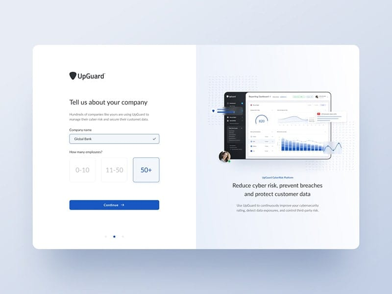 Booking form for UpGuard