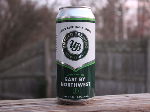 East by Northwest, a IPA brewed by Untold Brewing