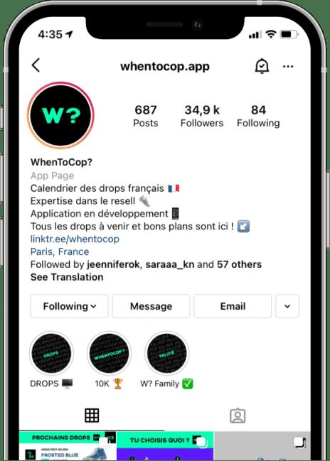 mockup WhenToCop? social network