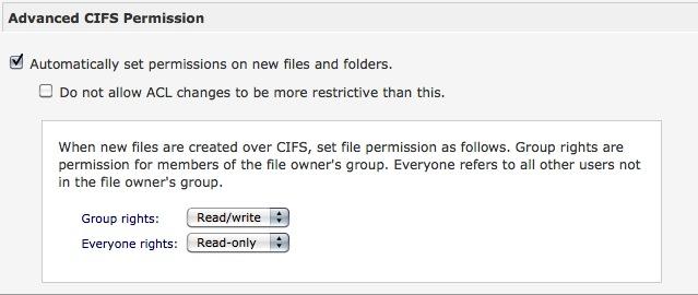 CIFS Advanced Permissions