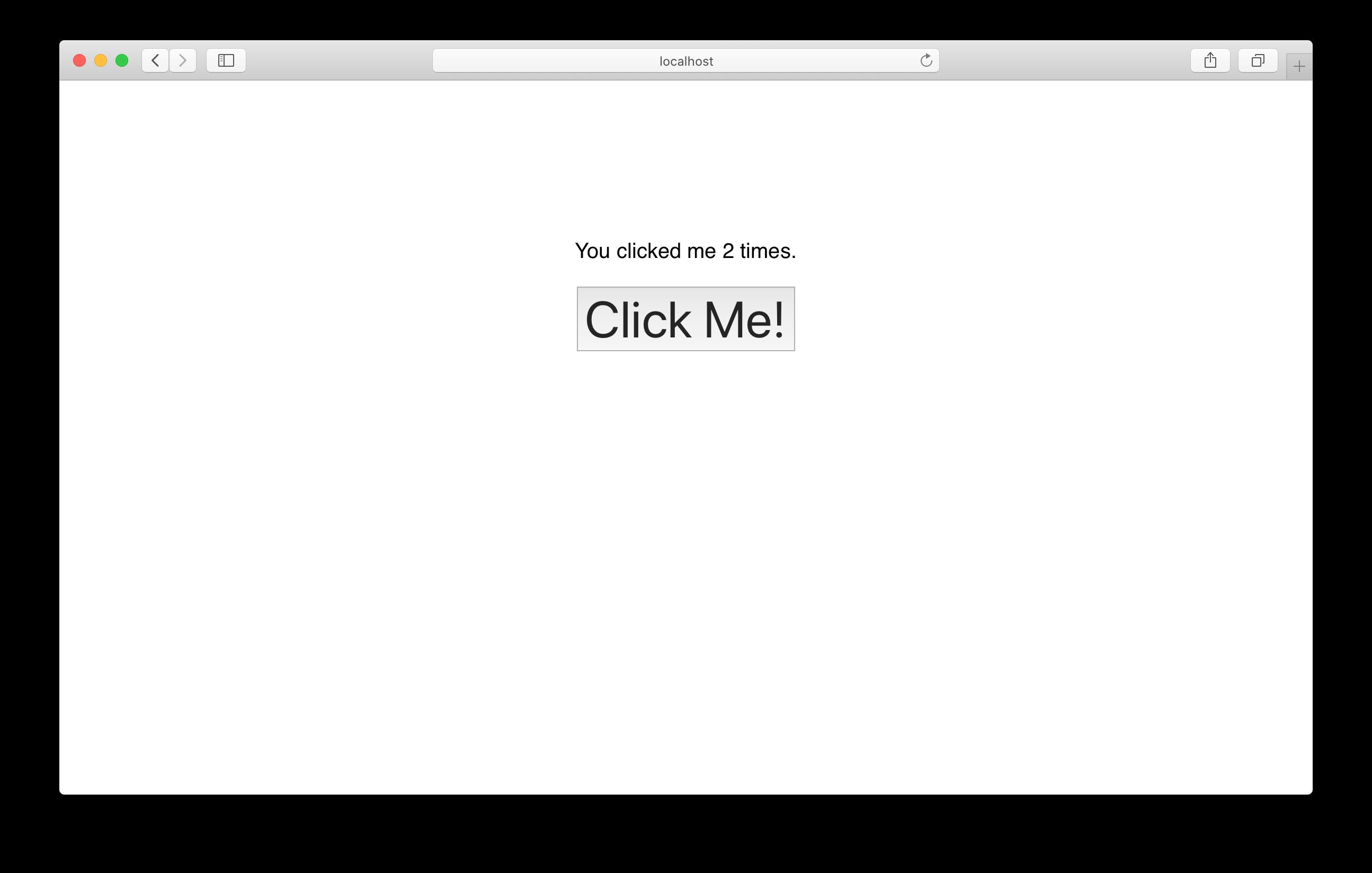 Click counter UI in Next.js app