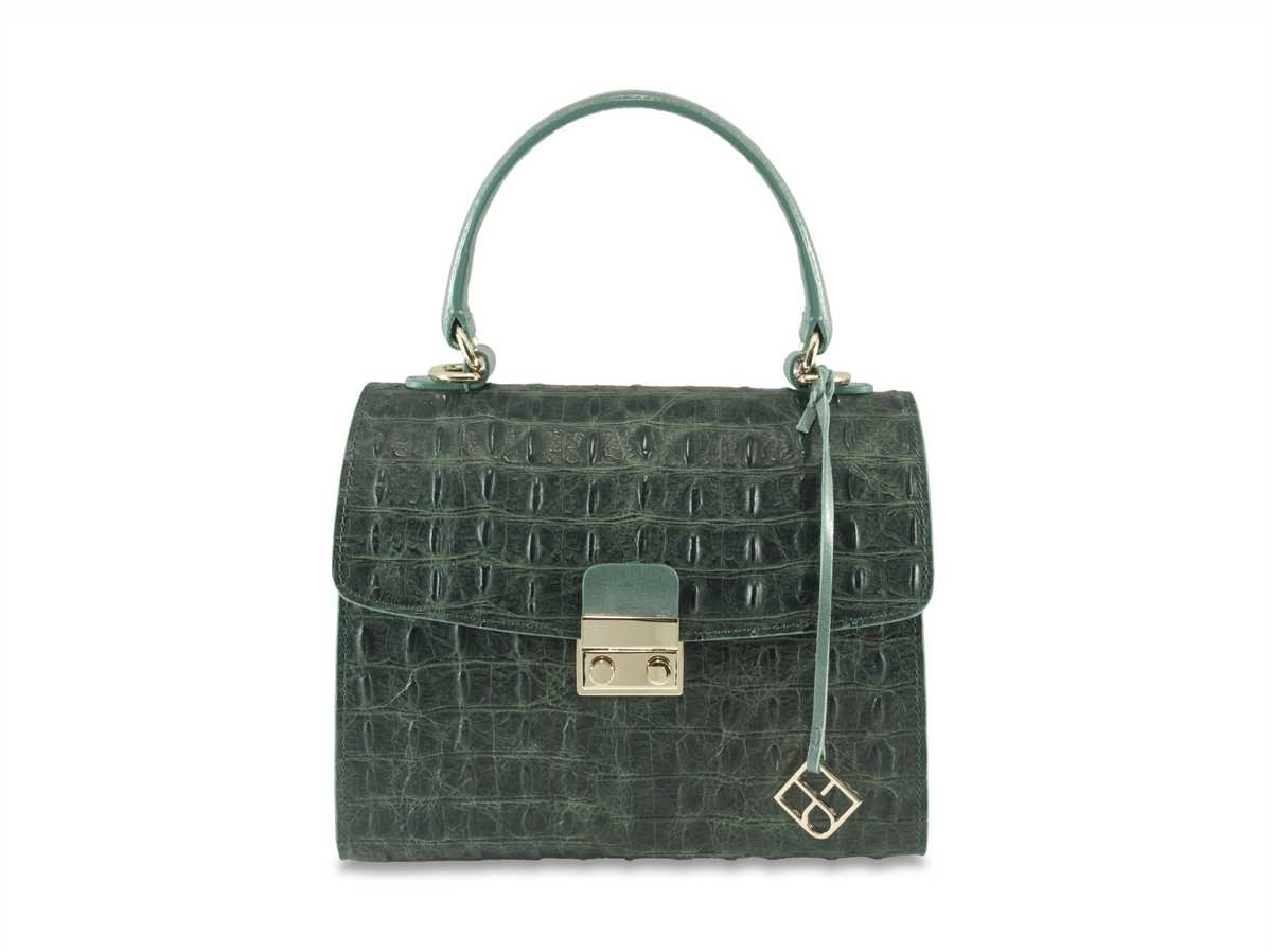 Almaaz Lock Mini - croc green
