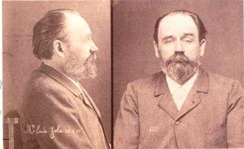 Anthropometric photography of Émile Zola at his trial