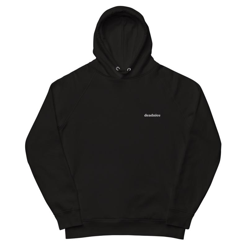 wordmark black hoodie