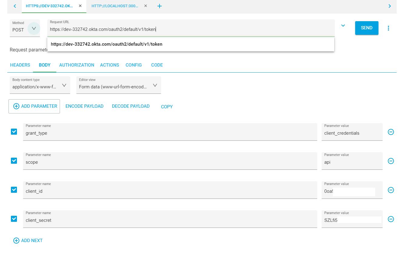 API Call Get Token