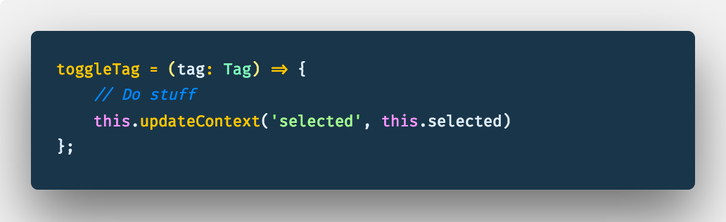 Use an arrow function like this so that you don't run into undefined variables errors.