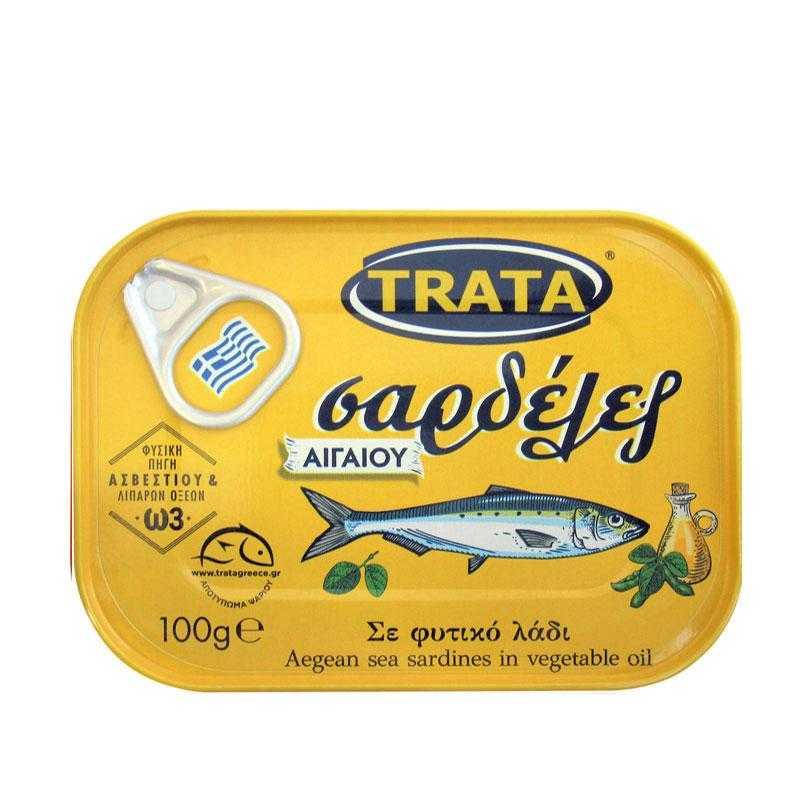 Σαρδέλες σε φυτικό λάδι - 100γρ