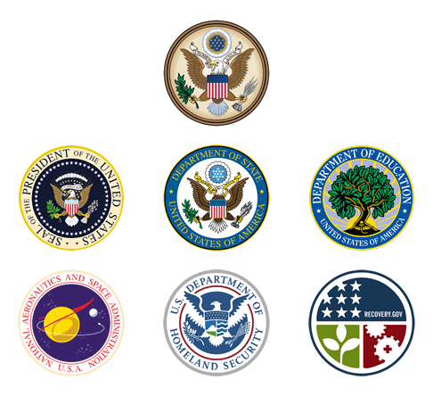 Seals Used by Different Aspects of the US Federal Government