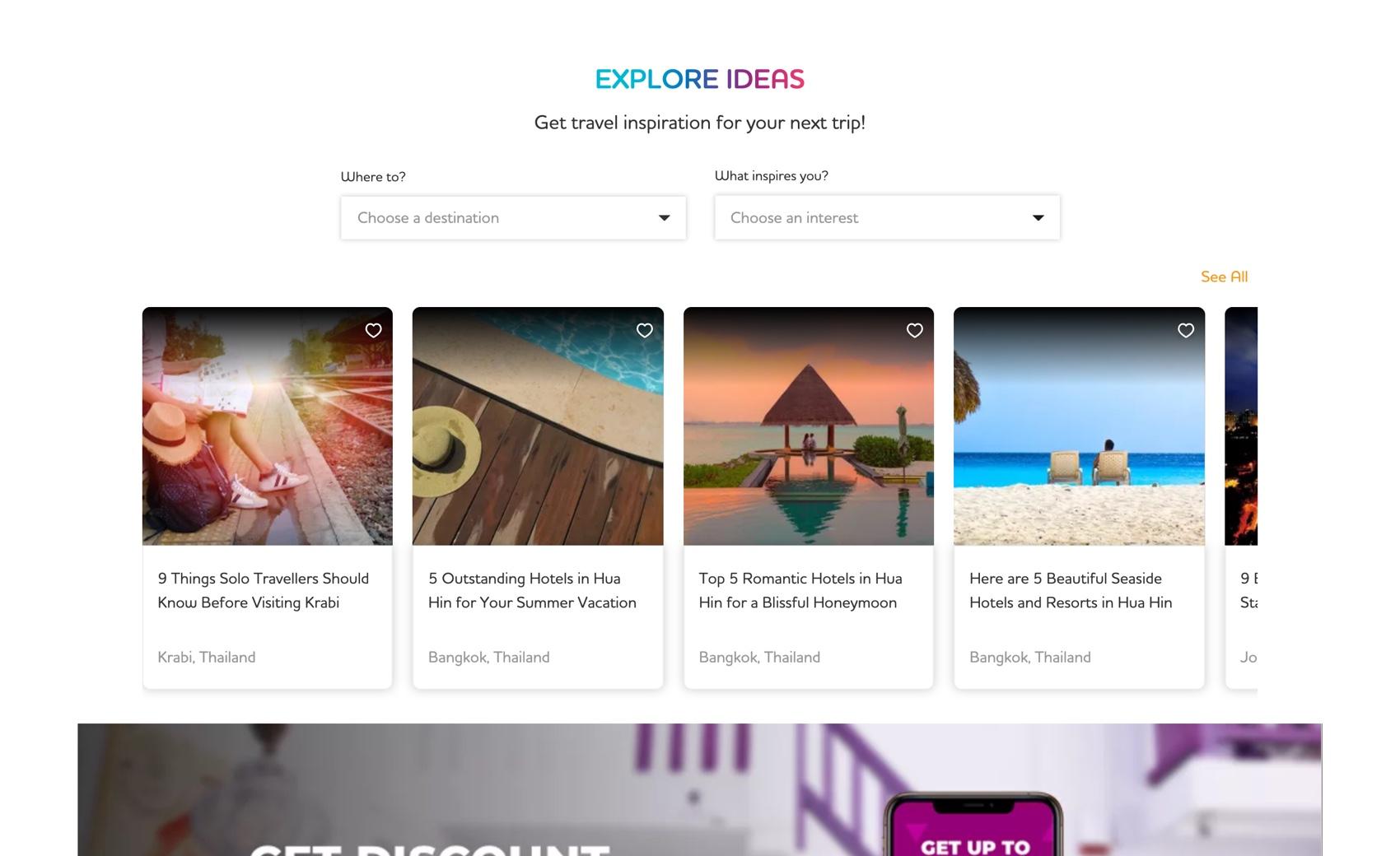 Screenshot of WorldRoamer webapp user dashboard