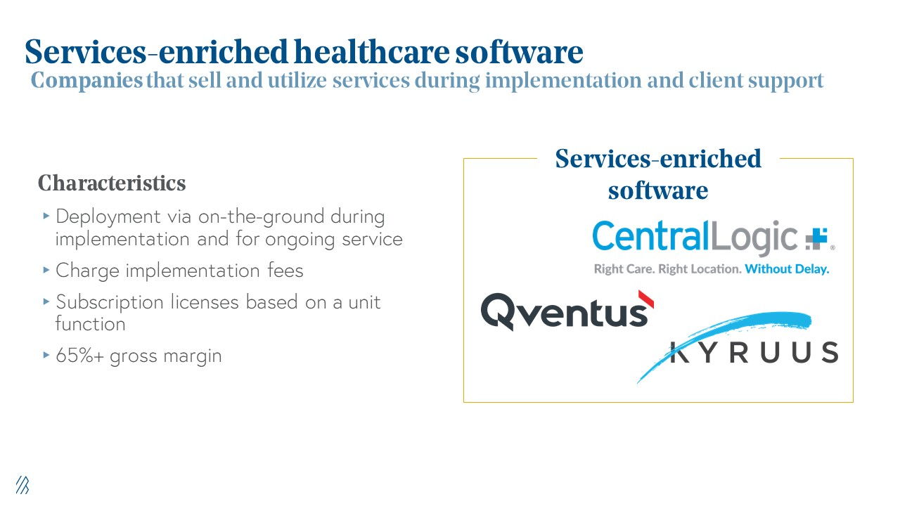 Services-enriched healthcare software
