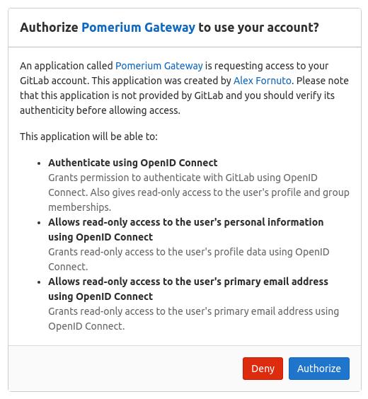 gitlab access authorization screen