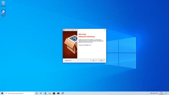 Instalador Windows Aviso