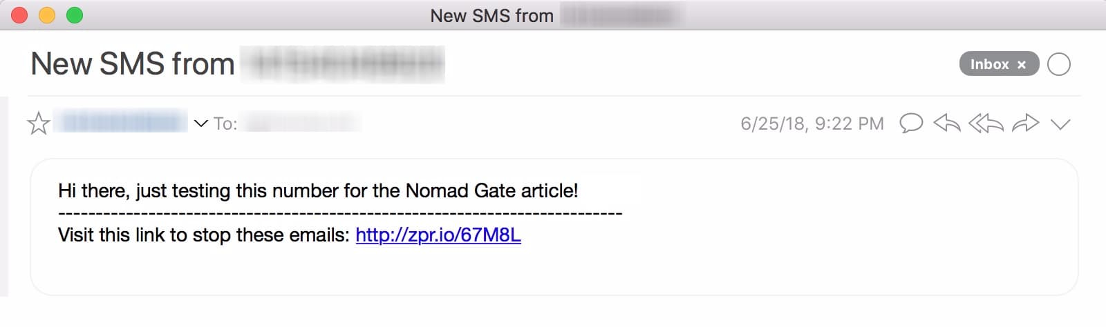 Check your email inbox to verify that you got the notification.;