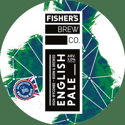 Fisher's English Pale Ale keg badge