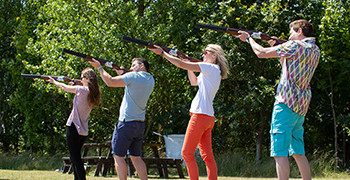 Laser clay shooting at Potters Resort
