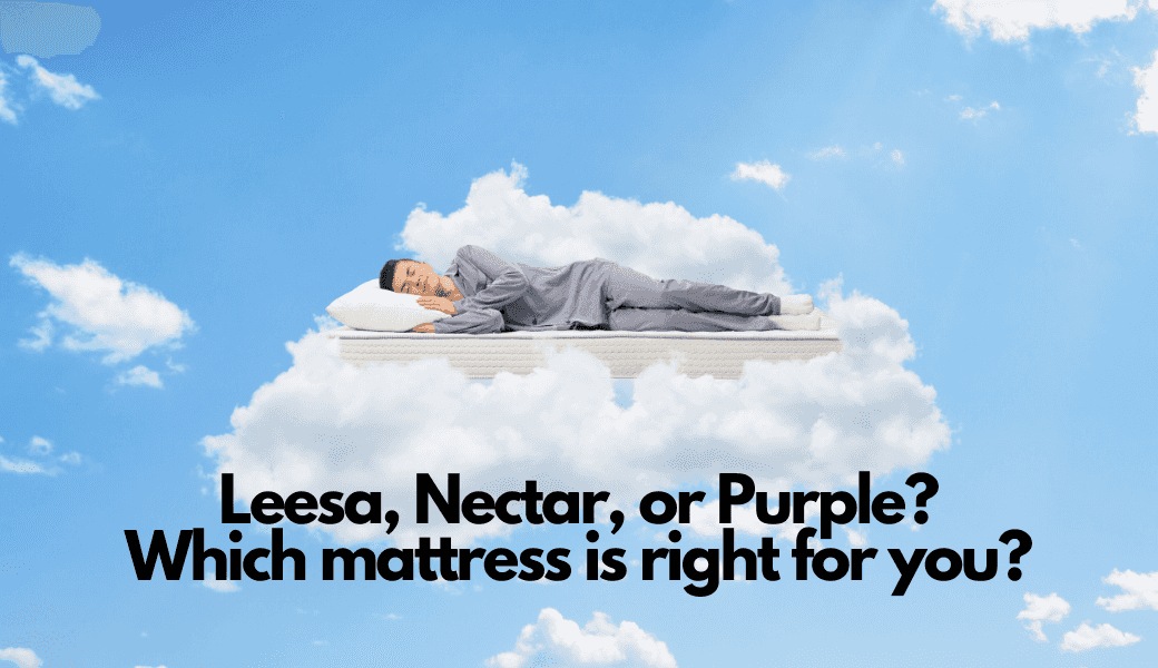 Our Favorite Bed-In-A-Box Mattresses:, Leesa vs Nectar vs Purple cover image