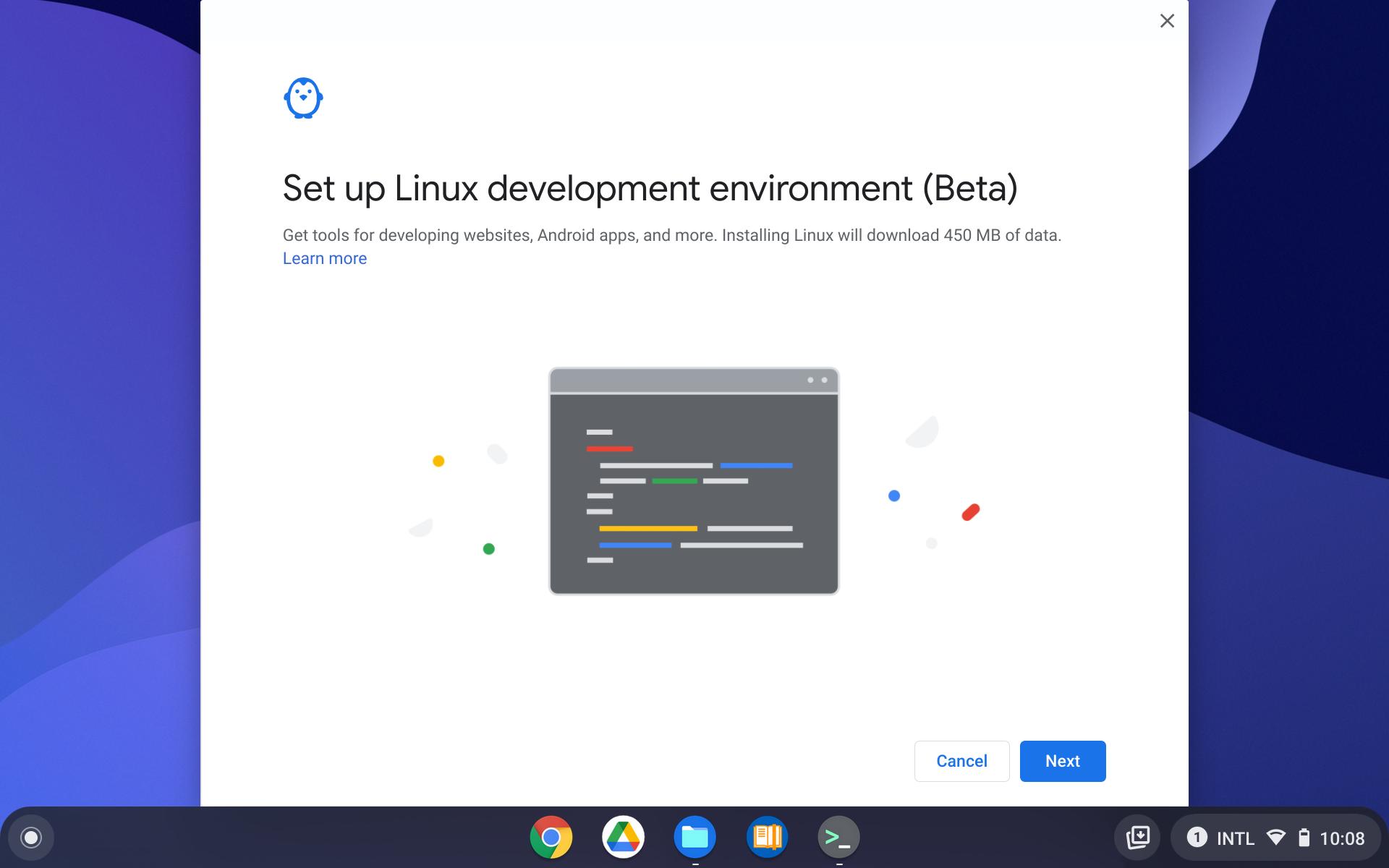 ChromeOS Linux setup