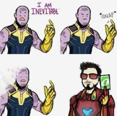 Uno Reverse Card Meme (Thanos)