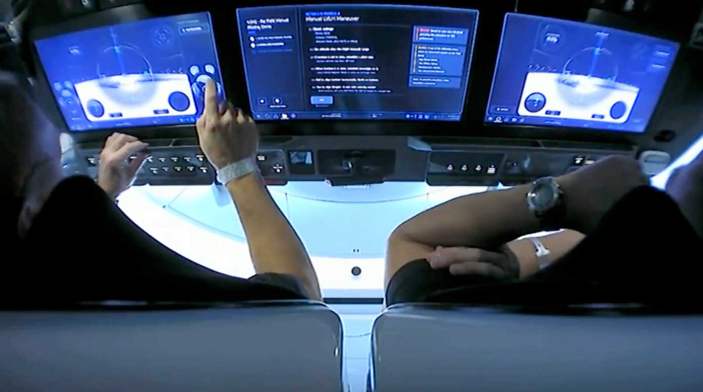 Falcon 9 touch input display