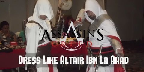 Altair uniform consists of the symbolic beak-shaped hood that marks a master assassin, three layers of white linen as is customary to the Order, brown pants, and knee-high boots.