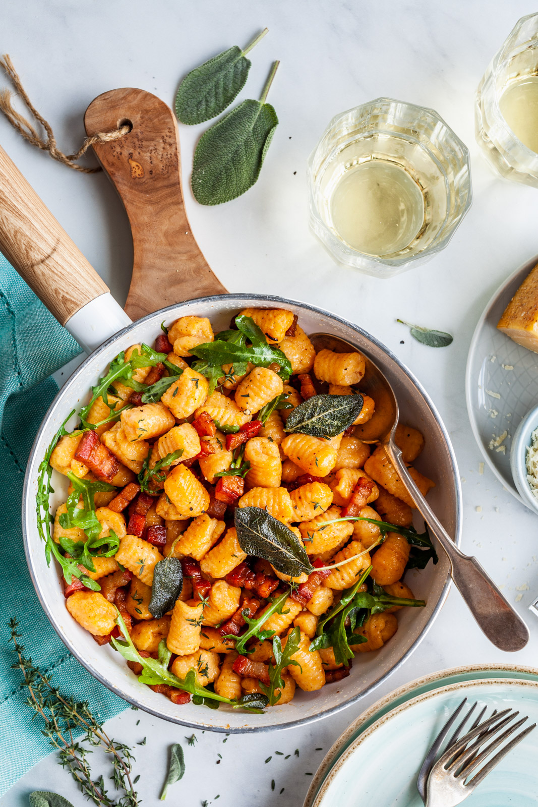 Sweet Potato Gnocchi With Sage and Thyme Brown Butter
