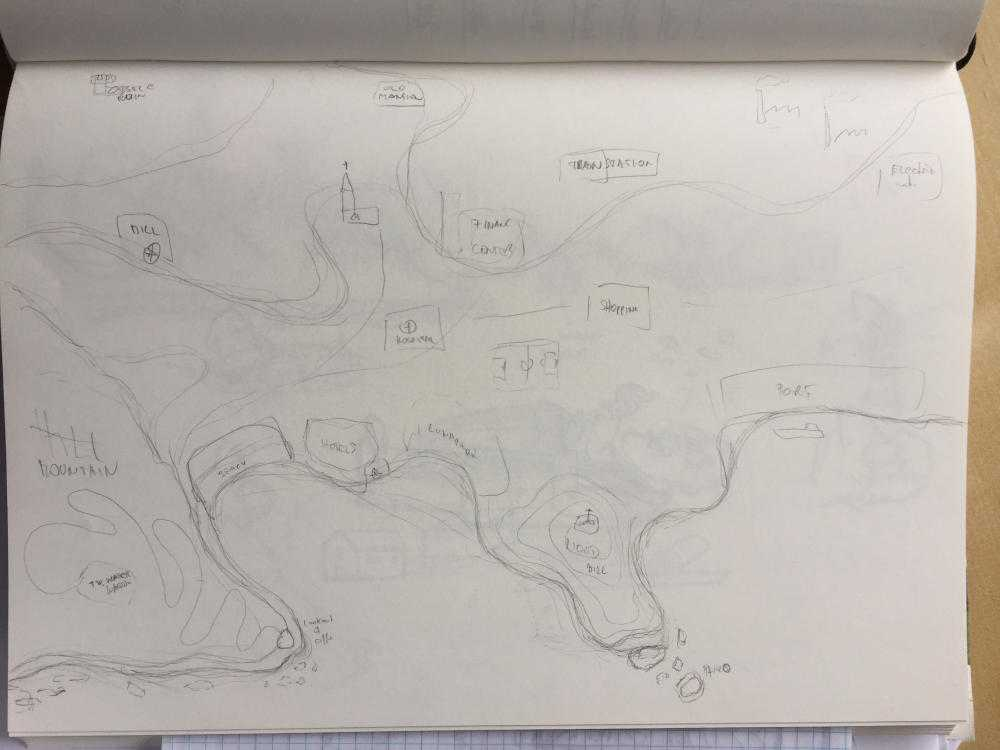 erster Entwurf des Stadtplans