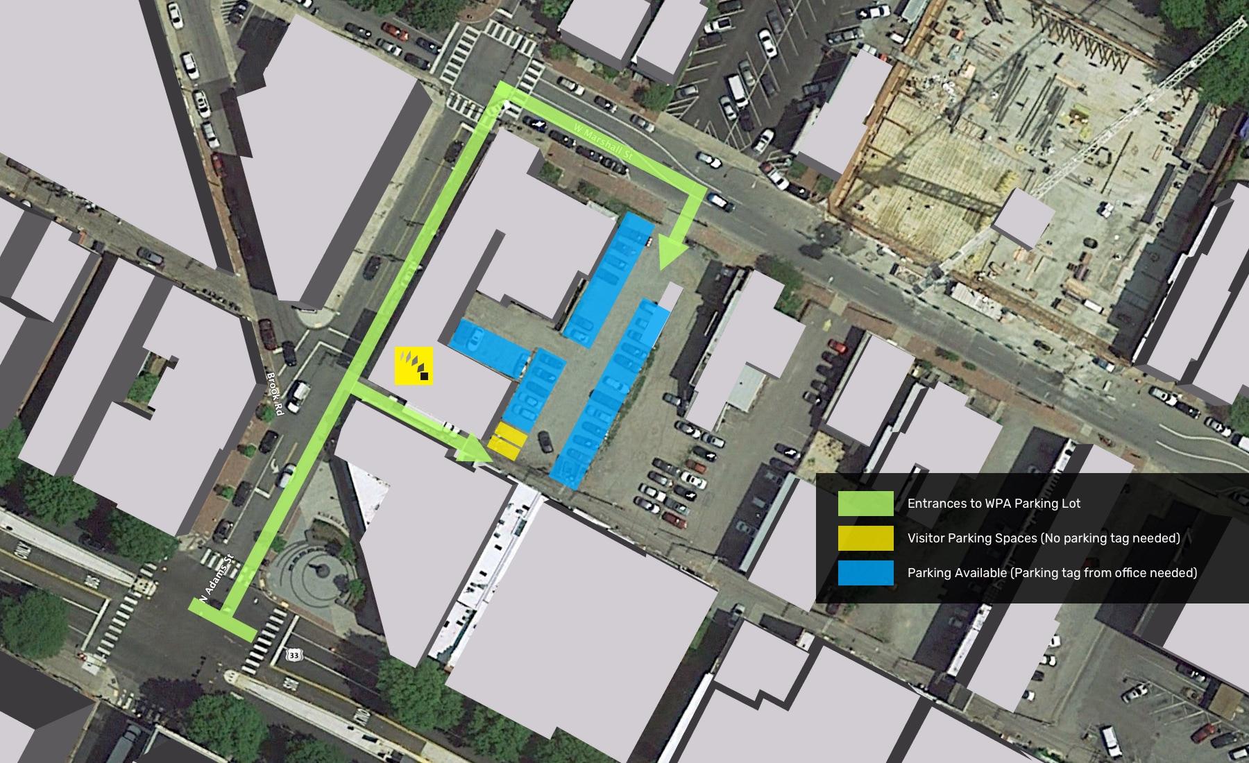 WPA Parking lot map