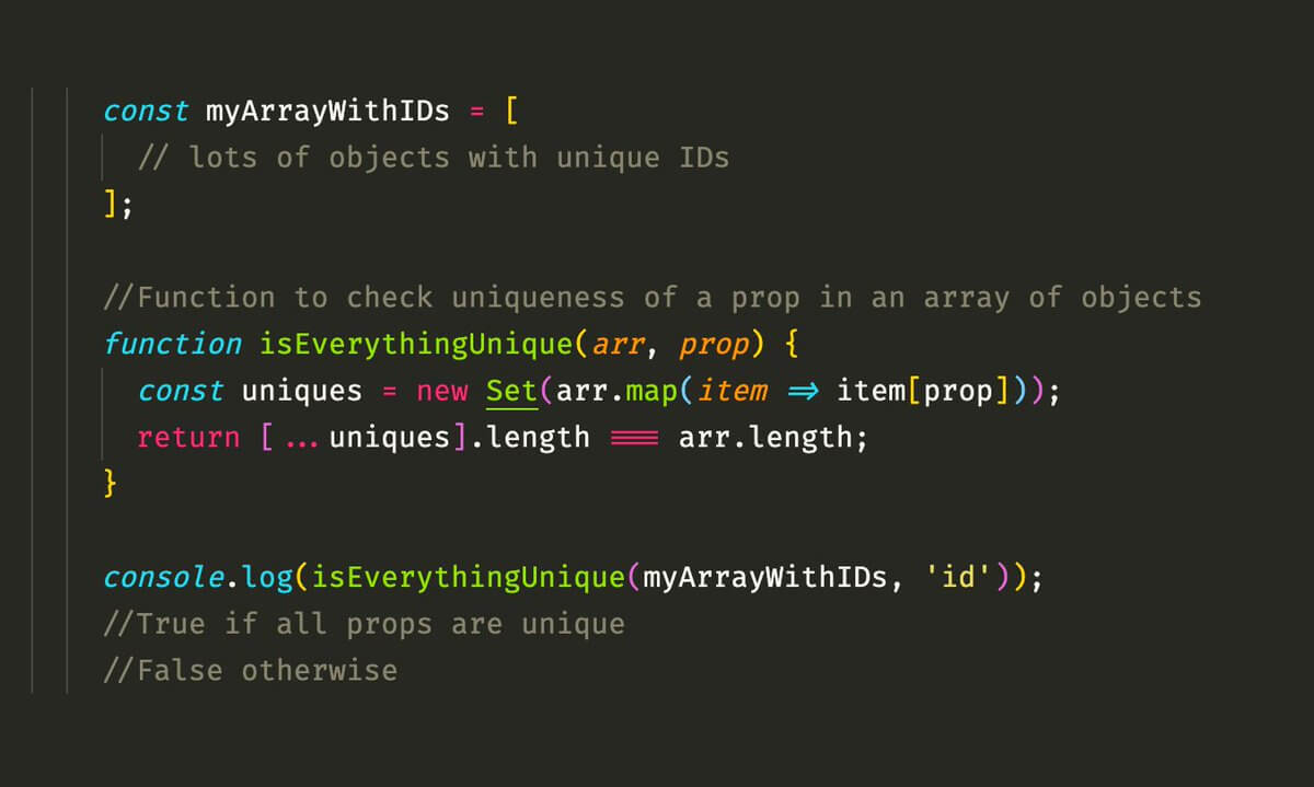 Preview image for How to Check Uniqueness in an Array of Objects in JavaScript