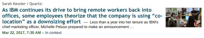 Techmeme headline in 2017