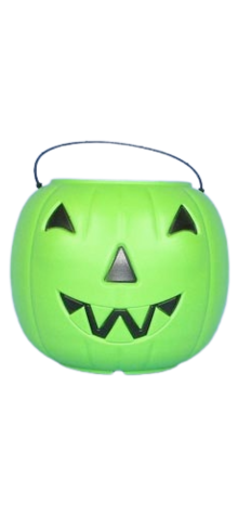 Green Big Jack Pumpkin Pail With Handle photo