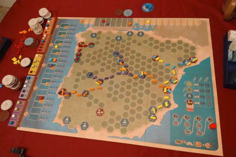 Iberian Gauge board game almost done