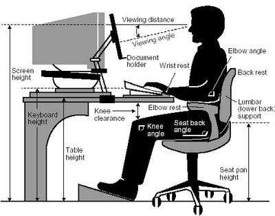 Diagram of correct posture