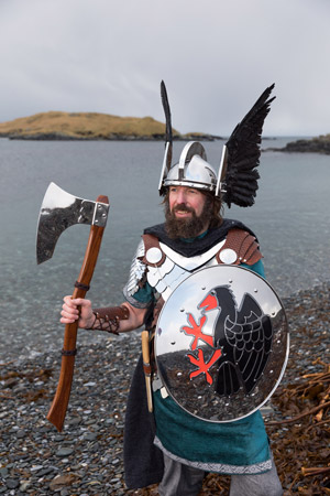 Stewart Jamieson, Guizer Jarl.  Photo by John Coutts.