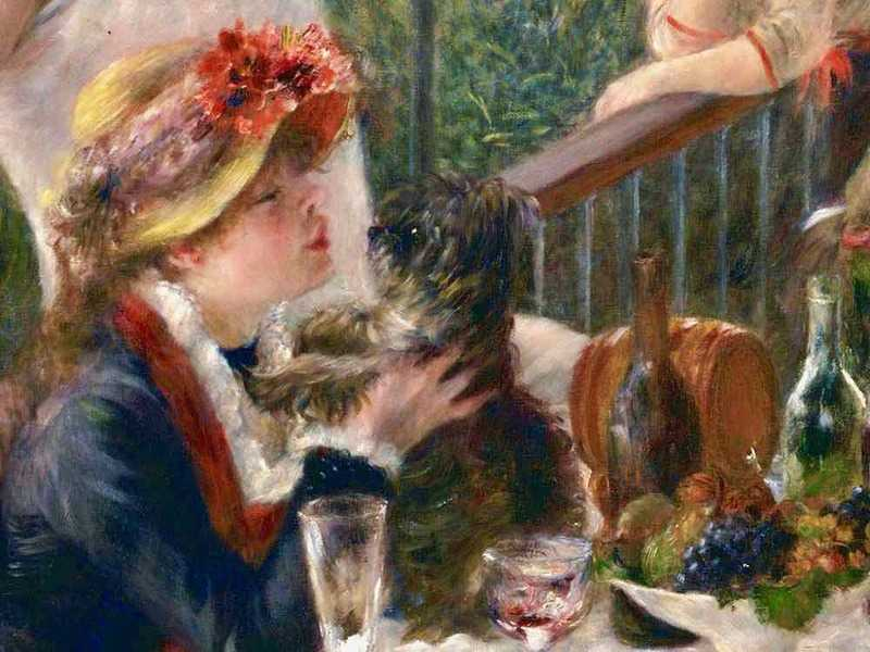 Renoir's future wife, Aline Charigot, is the focus of Luncheon at the Boating Lake