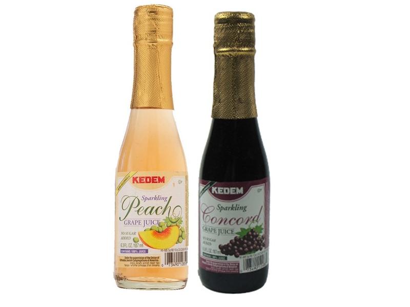 Kedem Mini Sparkling Peach/Concord Grape Juice (175ml)