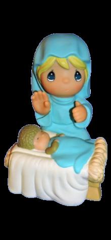 Mary/Baby Jesus - Light photo