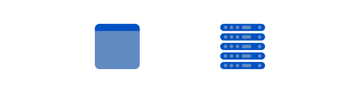 Simply a browser talking to a global CDN