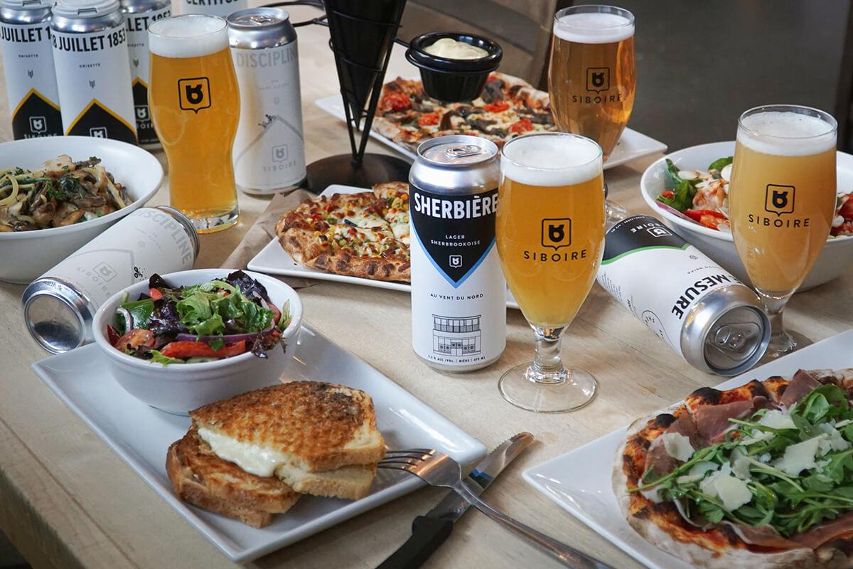 Commande de bières et repas Siboire à emporter