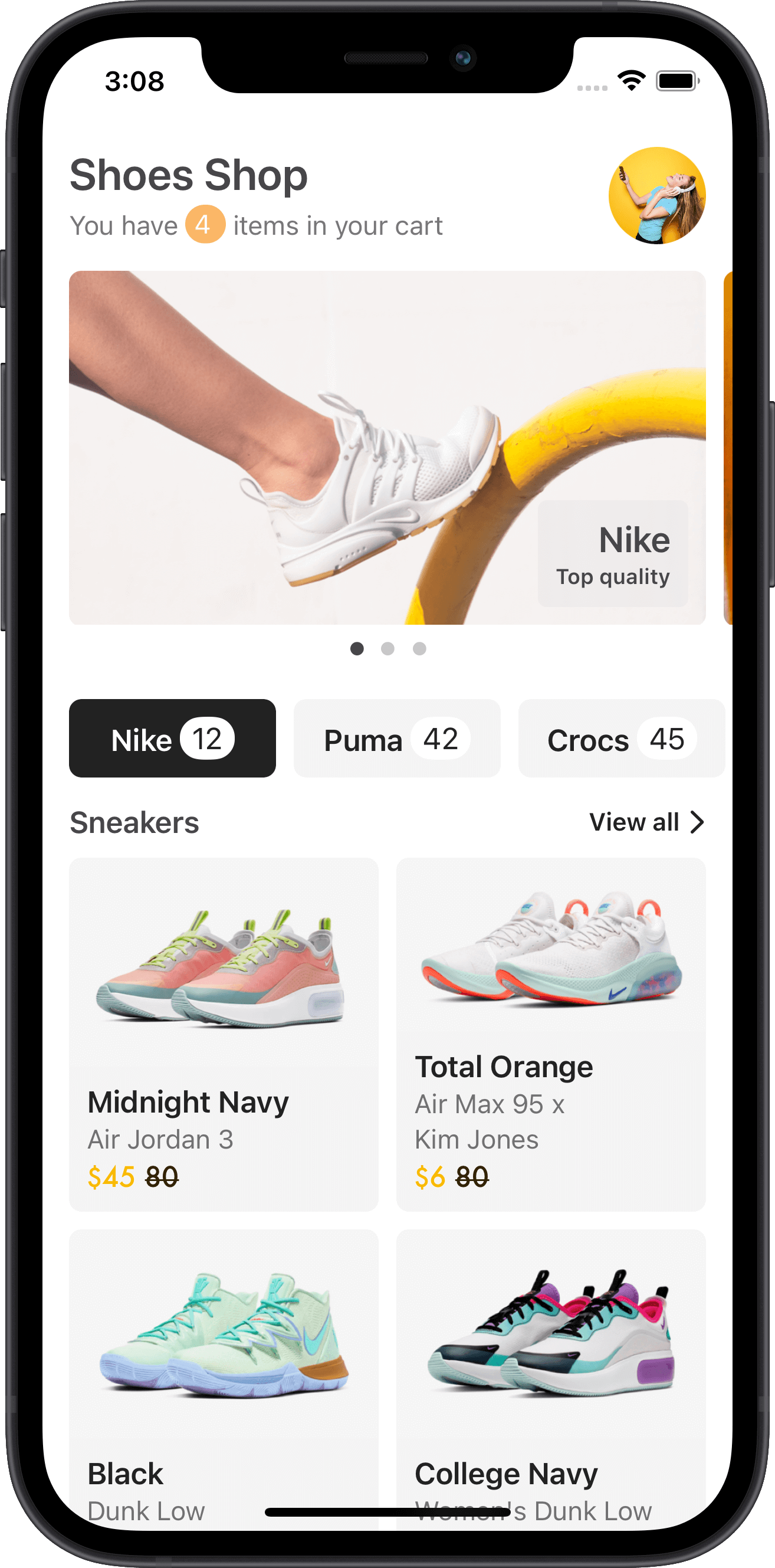 e-commerce, home, sneakers, products, nike