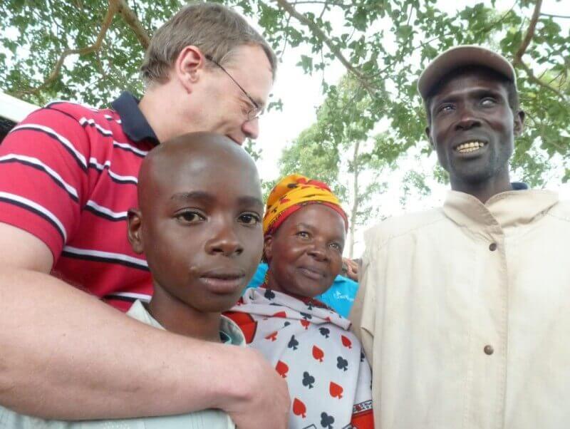 Met Samuel en zijn ouders