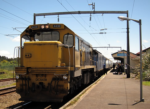 Overlander during its stop at National Park railway Station