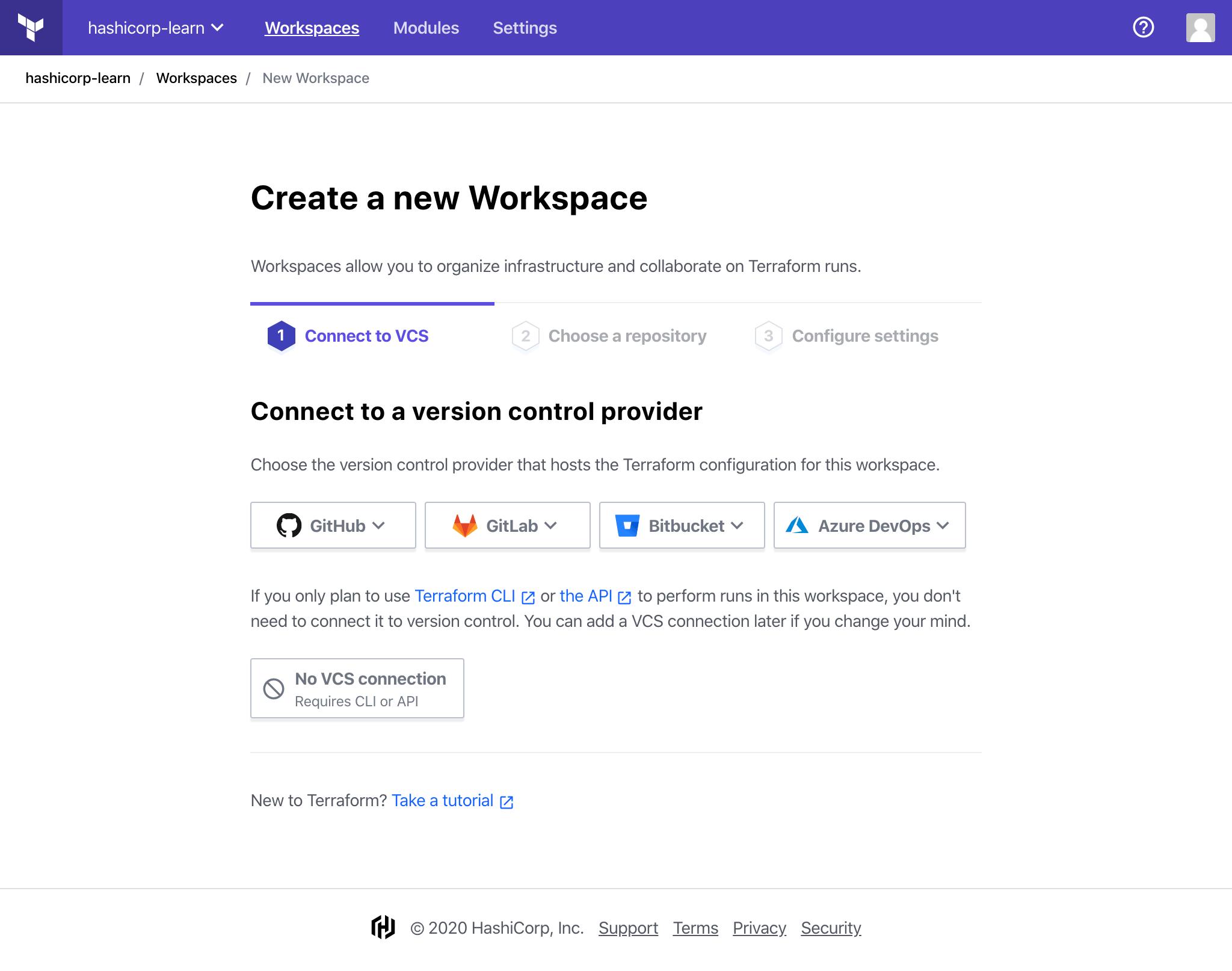 new-workspace
