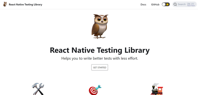 React Native Testing Library