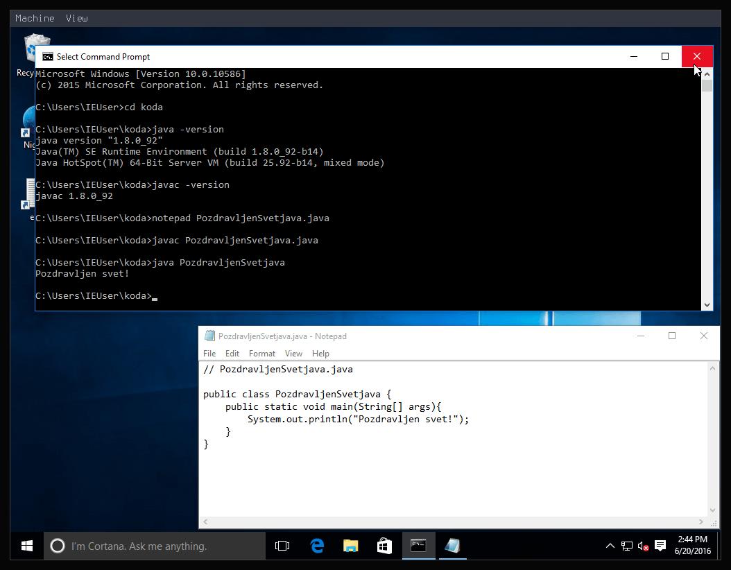 Slika 5: Windows 10 Java