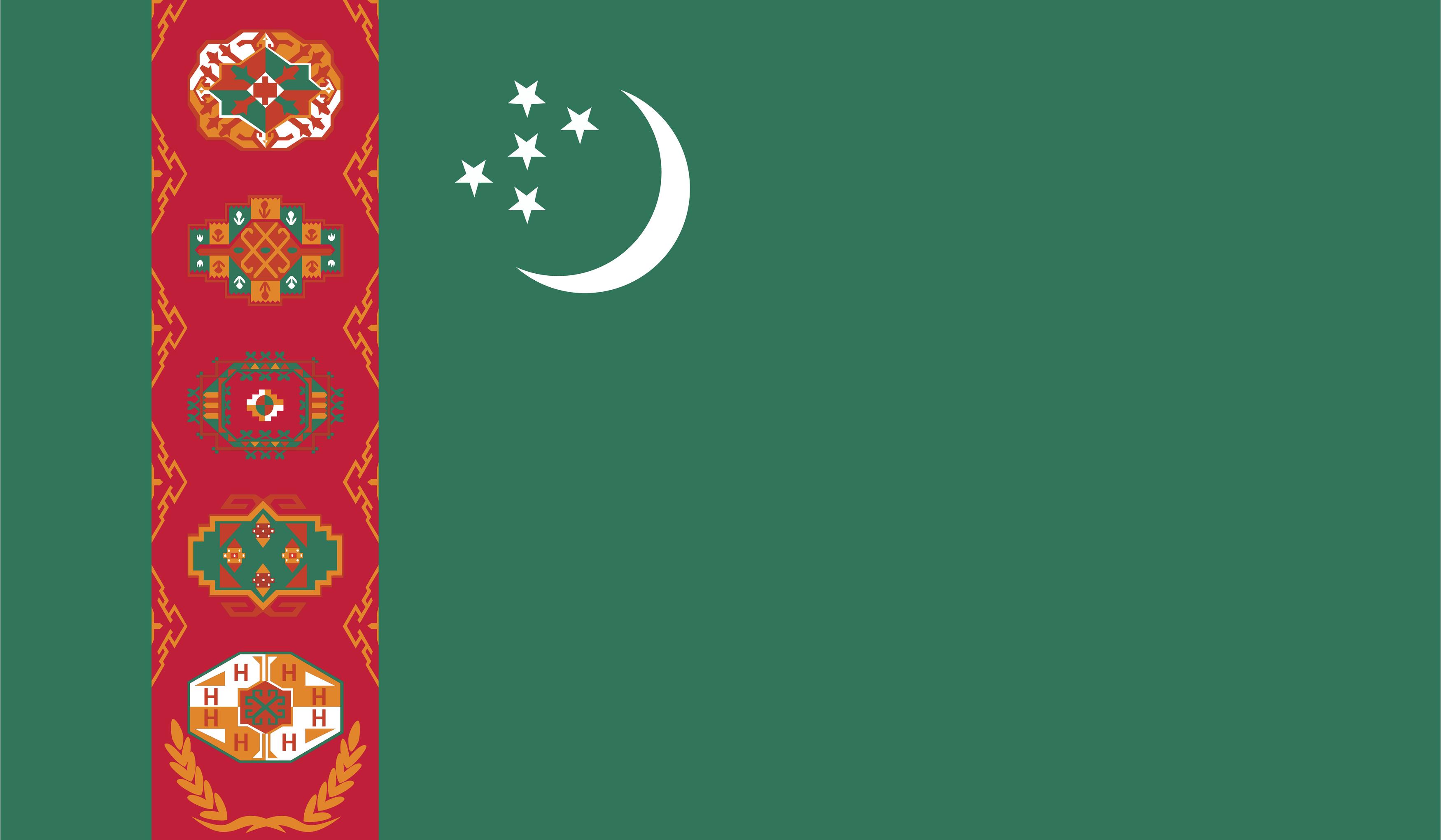 Flag of Turkmenistan