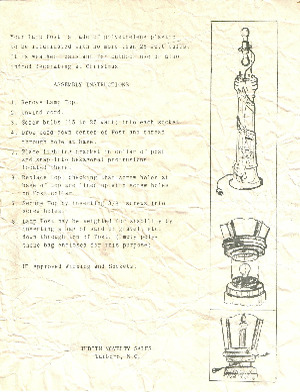 Empire Lamp Post #1369 Instruction Manual (11/30/1964) preview